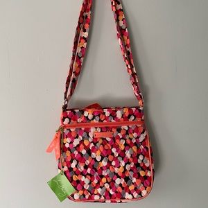 NWT Vera Bradley Petite Double ZIP Hipster Purse